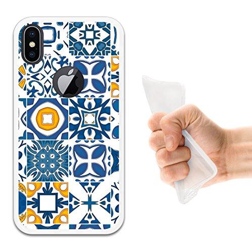 iPhone X Hülle, WoowCase Handyhülle Silikon für [ iPhone X ] Hund Fußabdruck Handytasche Handy Cover Case Schutzhülle Flexible TPU - Schwarz Housse Gel iPhone X Transparent D0243