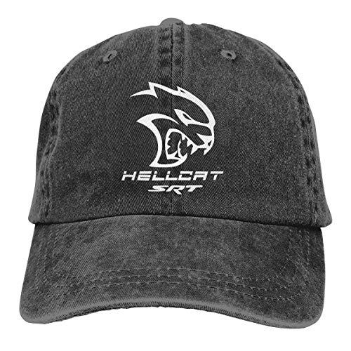Louis Berry Dodge Hellcat SRT,Einstellbare hohe Qualität Snapback Cap Demin Baseball Cap Urlaub Jeans Hut für Männer Frauen Boy Girl Cap