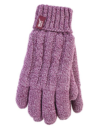 Heat Holders - Damen Thermisch Winter Handschuhe in 7 Farben (S/M, Rosa)
