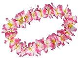 Alsino Hawaiiketten Blumenkette Hula Kette Hawai Halskette 1 m blau weiß pinkblau Hawaii-Deko Party Acessoire 19