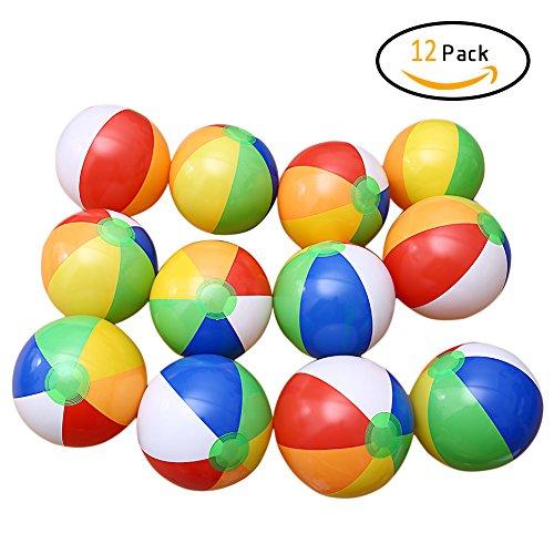Twister.CK Bolas de Playa DE 12 Paquetes, 8 'Piscina Inflable del Arco Iris Bolas de Playa, Tema de la Playa para los Favores del Partido Jugando a los Niños Juguetes de la Playa de la Playa