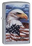 Zippo Briquet coupe-vent Motif aigle, Street Chrome