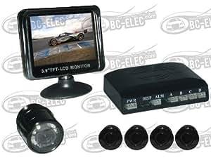 Bc-Elec - Pack Ecran 3,5 Pouces, Radar De Recul Camera De Recul
