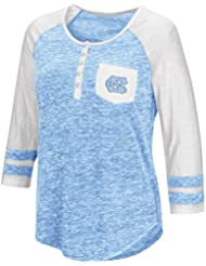 "North Carolina Tarheels NCAA Women's ""Inconceivable"" 3/4 Sleeve Henley Shirt Chemise"