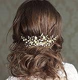 Aukmla mariage cheveux peignes barrettes vintage cristal coiffes branche simple cheveux de mariée accessoires pour mariée et demoiselle d'honneur