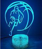 Kreative 3D Basketball Nacht Licht Lampe USB Power 7 Farben Amazing Optical Illusion 3D LED Lampe Formen Kinder Schlafzimmer Geburtstag Weihnachten Geschenke
