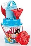 Sandspielzeug PIRAT mit Pirat Sandform Eimer Schaufel Sieb