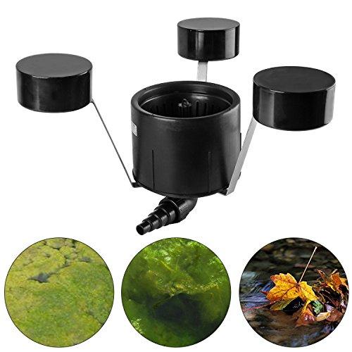 everfarel Teich Skimmer Schwimmskimmer Poolskimmer Bis 35m²,schwarz