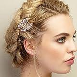 Queenmee Schmetterlings-Haarspange für Mädchen und Damen, zur Hochzeit, etc. klein, roségold