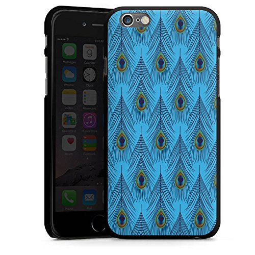 Apple iPhone 5 Housse étui coque protection Plume d'autruche Motif Motif CasDur noir