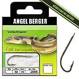 Angel Berger Vorfachhaken gebundene Haken (Aal/Wurm, Gr.4 0.35mm)