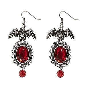 WIDMANN Par de pendientes murciélago/Gemme, rojo Womens, talla única, vd-wdm46754