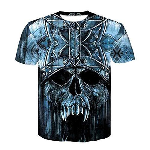 Männer Frühling Sommer Männer T-Shirts 3D Gedruckt Tier t-Shirt Kurzarm Lustige Design Casual Tops Tees Männlich,3D Digitaldruck - B1 Blau XL Wolverine Ridge