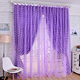 Best Home Fashion Sheer Curtains - Voberry Fashion Rose Flower Window Sheer Curtain Panels Review