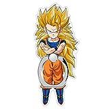 MIM Global Dragon Ball Z Super GT Phone Anillo Ring Finger Holder Grip Soporte Keyring Compatible con Todos Movil Mobile Telefono Phones Tablets Dispositivos Devices (Goku SS3)
