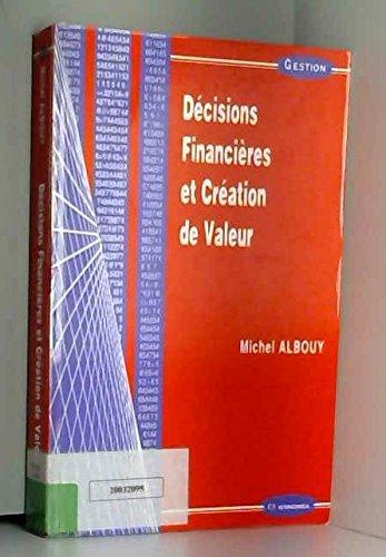 Décisions financières et création de valeur