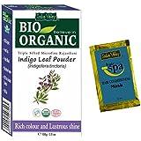 Indus Valley BIO Organic Indigo leaf powder (Indigofera Tinctoria) with Color Recipe Book and an Hair Eaze SPA free (100 grams)