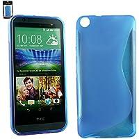 Emartbuy® HTC Desire 820 Ultra Slim Gel Hülle Schutzhülle Case Cover Blau