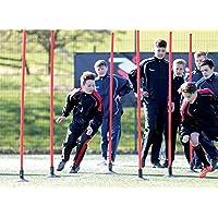 Precision Training frontière Bâtons en rouge Lot de 12