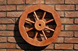 Dekoratives Wagenrad 48 cm, rustikal, Holz, Hellbraun
