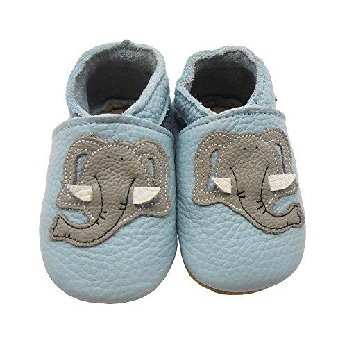 Bild von Sayoyo Netter Elefant WeichesLeder Lauflernschuhe Krabbelschuhe Babyschuhe