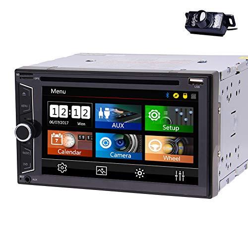 EINCAR 6,2-Zoll Doppel-DIN-im Schlag-Auto DVD CD-Player Auto-Stereokopfeinheit kapazitiven Touch Screen Bluetooth USB-MP3-AM/FM Radio für Universal Lenkradsteuerung + Free Backup-Kamera + Fernb