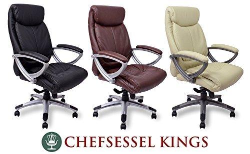 Sedie Girevoli Da Ufficio : Poltrona direzionale kings nero crema marrone sedia da ufficio