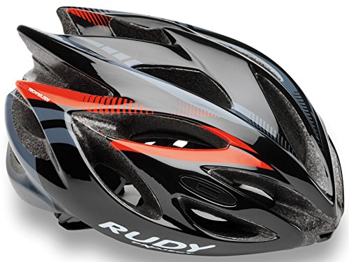 Rudy Project Rush Rennradhelm – black red-fluo shiny