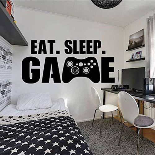 Crjzty Gamer Wand Dekor Playstation Controller Wandtattoo Essen Schlaf Spiel Dekor Videospiel Wand Aufkleber d für Kinder Schlafzimmer 57 * 121cm