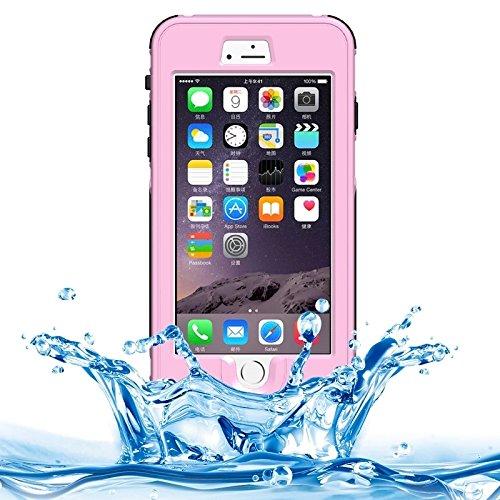 Phone case & Hülle Für IPhone 6 Plus / 6s Plus, ABS Material wasserdicht Schutzhülle mit Knopf- und Touchscreen-Funktion ( Color : Grey ) Pink