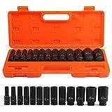 "AllRight Impact Sockets 13pcs 1/2"" Deep Tool Set Metric Garage Workshop 10-32 MM"