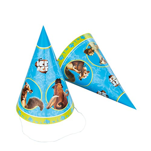 Susy Card 40000367 - Partyhüte, Ice Age, 6 Stück (6 Age Ice)