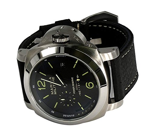 Parnis MM Goliath SS 50mm by Parnis Black Dial Automatik Kaliber Seagull