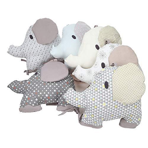 Baby Baumwolle Kopfschutz Gepolsterte Stoßstange Krippe Bett Kissen Schlaf Stoßstange Für Kleinkinder 6er Pack (Krippe Kopfstütze)