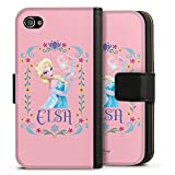 DeinDesign Apple iPhone 4 Tasche Leder Flip Case Hülle Disney Frozen Elsa Fanartikel Geschenke