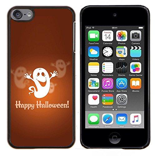 Graphic4You Halloween Allerheiligen Thema Gespenst Design Harte Dünn Hülle Tasche Schale Schutzhülle für Apple iPod Touch 6 (Halloween Thema Mp3 6)