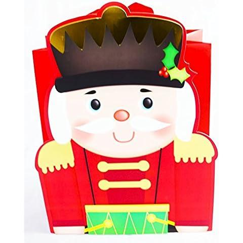 Grande regalo di natale Borsa Schiaccianoci Soldato giocattolo Design di lusso borsa regalo per i bambini