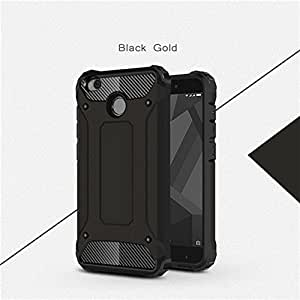 Armored shockproof PC case for Xioami Redmi 4 by Pendragon (Black color)