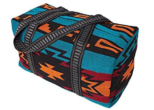 Weekender Tasche Strandtasche Reisetasche Southwest Indian Atztec Style mehrfarbig (blau) rot