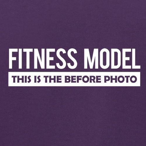 Fitness Model Before Photo - Herren T-Shirt - 13 Farben Lila