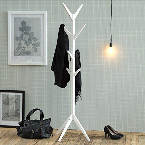Garderobenständer weiß Skandinavisches Design Holz Flurmöbel Flurgarderobe Jackenständer Kleiderständer Garderobe