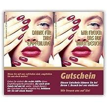 teilbar 50 Kosmetikstudio Empfehlungskarten JAPANESE SPA