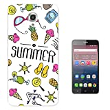 002223 - Summer Bikini Sunglasses Flip Flops Ice cream Sun Beach Collage Design Alcatel Pixi 4 5.5