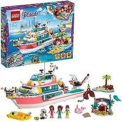 LEGO® -Le Bateau de Sauvetage Friends Jeux de Construction, 41381, Multicolore