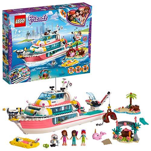 LEGO41381- Friends Boot für Rettungsaktionen, Bauset (City Park Lego)