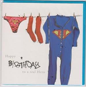 Carte de vœux d'anniversaire/Mâle–Superman