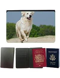GoGoMobile Couverture de passeport // M00123694 Golden Retriever Juego piel del perro // Universal passport leather cover