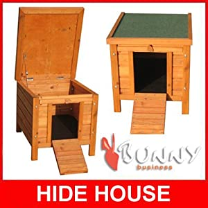 Bunny Business Rabbit/ Guinea Pig Hide House/ Run Hutch, 42 × 43 × 51 cm