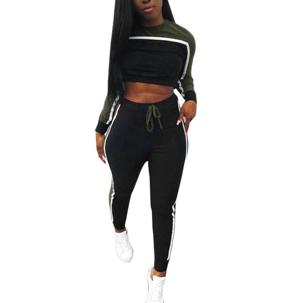 be0a8c2bf0 Homebaby Tuta da Ginnastica Donna Elegante 2Pcs Tute Felpa + Pantaloni Set  Ragazze Giacca Pullover Tops Casual Tuta Training Yoga Sportivo Sportswear  ...