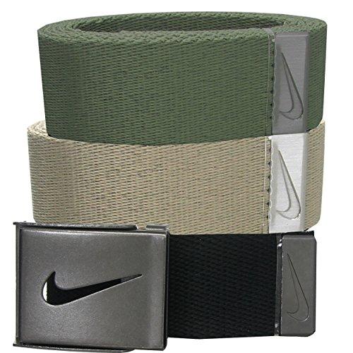 Nike Herren 3Pack Web, Herren, Black/Cargo Khaki/Khaki, Einheitsgröße (Herren Cargo Nike)